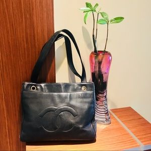 Authentic Channel Shopping Tote Shoulder Bag.